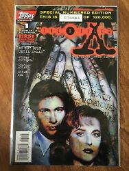 X-files 1 1st Scully Mulder Comics Tv 1995 Topps Serial Number Variant Cgc 9.8