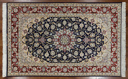 Signed Authentic Wool & Silk 5' X 8' Oriental Rug - SA2600