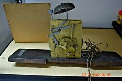 Antique Original Grandfather Clock Movement With Bell For Project Or Parts