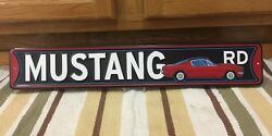 Mustang Road Ford Metal Advertising Garage Man Cave Parts Vintage Style Decor