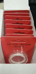 10 Airtite H32 Whiite Ring Coin Capsules 32mm For 1 Oz. Platinum Eagle 100 New