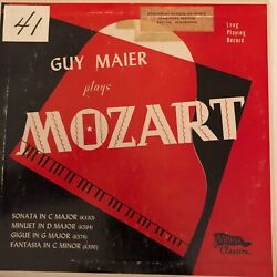 Guy Maier Play Mozart Banner Records
