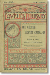 Louis Post Account Of George-hewitt Campaign New York 1886 Election Single Tax