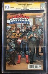 All New Captain America 3 120 Star Wars 'welcome Home' Variant Cgc Ss 9.4