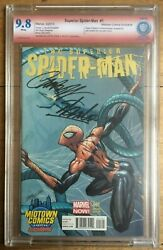 Superior Spider-man 1 Midtown Variant Cbcs 9.8 Signed Stan Lee And Campbell