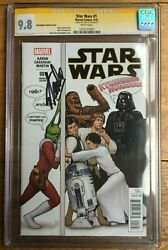 Star Wars 1 J T Christopher Party Variant Cgc Ss 9.8 Signed By Stan Lee