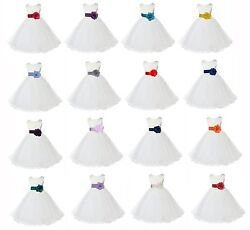 Ivory Wedding Flower Girl Dress Pageant Holidays Easter 12-18m 2 3t 4 6 8 10 12