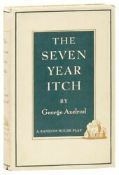 George Axelrod. Seven Year Itch Romantic Comedy. 1st Ed./dj. 1953