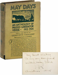 Genevieve Taggard-may Days Anthology 1925-association Copy Signed 8x