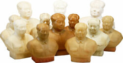 Collection Of 12 Rubber Busts Of Chairman Mao Tse-tung All Vg To Vg+ Ca 1960s