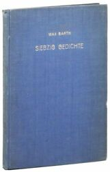 Max Barth Typescript Collection Of 70 Poems Bound With Typed Letter Signed 1939
