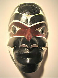 Cecil Dawson First Man Mask Carving Plaque Totem West Coast Native Art Indian