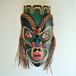Kumigwa And039chief Of The Under Seaand039sand039 Cedar Mask Carving West Coast Indigenous M
