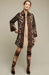 Anthropologie Janice Embroidered Print Art Nouveau Look Tracy Reese Lrg Nwt