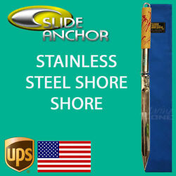 Slide Anchor Shore Spike Polished 316 Stainless Steel Suits Boats Up To 22foot
