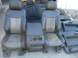 11 Ford F-250 Super Duty Lariat Ultimate Leather Seats Door Panels Console Trim