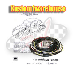 1959 Vw Volkswagen Bug Sedan Complete Wiring Works Harness Wire Kit Made In Usa