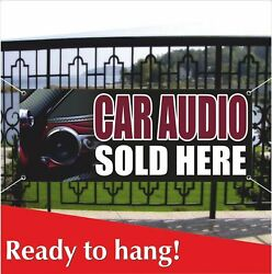 Car Audio Sold Here Banner Vinyl / Mesh Banner Sign Stereo Speakers Auto Service