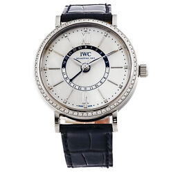 IWC Portofino Steel Auto 37mm Diamond Bezel Strap Ladies Watch IW4591-01
