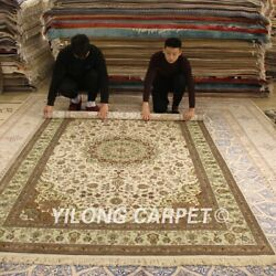 Yilong 6and039x9and039 Classic Handcraft Silk Carpet Living Room Hand Woven Area Rug 196ab