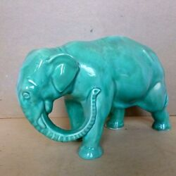 Elephant Ceramic Pottery Collectible Figure Statue Sculpture Germany Circa 1920