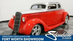 1935 Ford 5-Window Coupe vintage classic steel streetrod 454 v8 big block auto air leather red silver