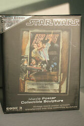 2005 Code 3 Star Wars A New Hope Style D Legendary Casts Movie Poster Sculpture