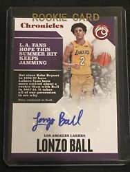 2017-18 Chronicles Basketball Lonzo Ball Red Parallel Rc Auto /149 - Lakers