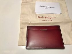 FERRAGAMO AUTHENTIC DESIGNER CARD CASE FROM BLOOMINGDALE'S. ORIG. $340