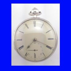 Stunning Silver Fusee Order Of Oddfellows Liverpool 11 Jewel Pocket Watch 1840