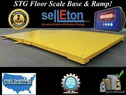 Floor Scale Pallet Size 10000 Lbs X 1 Lb Stg Industrial Warehouse 48 X 48 X 4