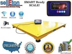 Floor Scale With Printer Pallet Size 2000 Lbs X 0.5 Lb Stg 48 X 48 X 3.8