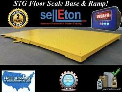 Floor Scale With Printer Pallet Size 10000 Lbs X 1 Lb Stg 48 X 48 X 3.8