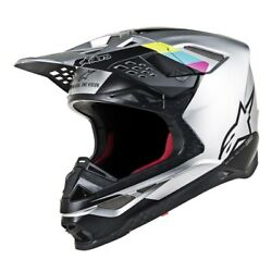 Alpinestars 2019 Supertech M8 Contact MX MIPS Helmet - Silver/Black