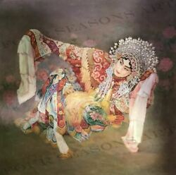 """Chinese Opera Star"" by Zhang Xing.  Original Oil Painting on High Quality Burla"