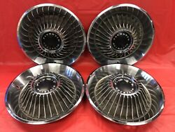Vintage Set Of 4 1968 Plymouth 14 Hubcap Fury Satellite Good Condition