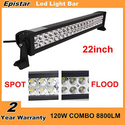 22inch 120w Combo Led Light Bar Offroad Fog Driving 4wd Atv Boat Suv Ford 20/24