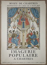 Religious Colored Manuscripts From Chartres Museum Mourlot Stone Lithograph