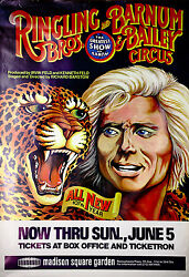 Ringling Bros And Barnum Bailey Circus Original Promotional Poster From 1970