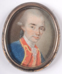 Philippe-henri Coclers Called Van Wyck Junior Officer Of Royal Army 1780/90