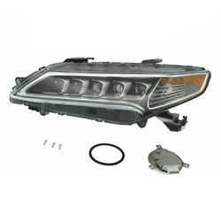 For 15-17 TLX Front Headlight Headlamp LED Head Light Lamp with Bulbs Left Side