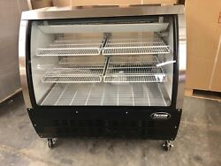 Deli Case Black 48 Show Case Refrigerator Cooler Meat Pastry Bakery Display 4and039