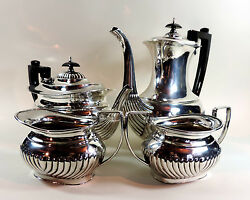 Vintage Silver Plated And039cooper Bros And Sonsand039 Four Piece Set