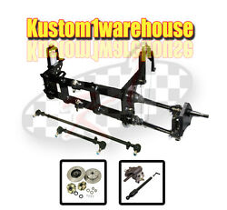 4 Inch Narrowed Vw Link King Pin Front End Beam W/drop Disc Brakes 5x4 3/4 Chevy