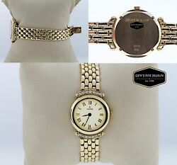 Concord 14k Yellow Gold Diamond Bezel White Dial 23mm Womenand039s Watch