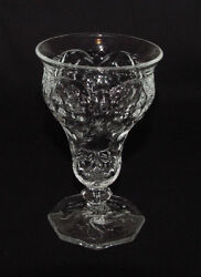 Perfect Vintage Mckee Glass Rock Crystal Water Goblet - 6 Available