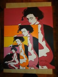 ORIIGINAL HUGE POP ART PAINTING  ENTITLED '' WOMAN # 2'' BY ARTIST JAMES CHEN