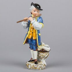 Herend Boy Playing The Flute Figurine, Masterpiece 15954