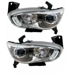 For 13 Jx35 14-15 Qx60 Front Headlight Headlamp Hid/xenon Head Light Set Pair