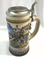 1988 Gerz Budweiser Seoul Olympics Beer Stein 8.5andrdquo Seoul Limited Edition